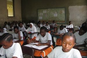 Students of the Jangwani School in Tanzania