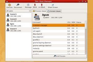 Screenshot vom Edubuntu Masterserver