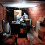 Nightly packing in Werner's garage