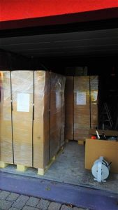 Pallets ready for transport